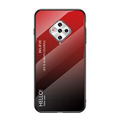 Silikon Schutzhülle Rahmen Tasche Hülle Spiegel für Vivo X50e 5G Rot