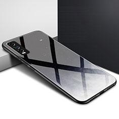Silikon Schutzhülle Rahmen Tasche Hülle Spiegel für Vivo Y12s Schwarz