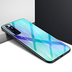 Silikon Schutzhülle Rahmen Tasche Hülle Spiegel für Xiaomi Mi 10 Ultra Cyan