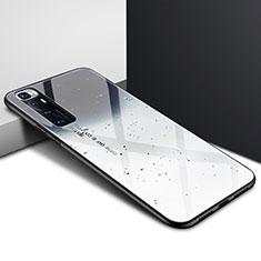 Silikon Schutzhülle Rahmen Tasche Hülle Spiegel für Xiaomi Mi 10 Ultra Grau