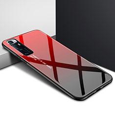 Silikon Schutzhülle Rahmen Tasche Hülle Spiegel für Xiaomi Mi 10 Ultra Rot