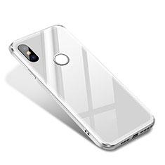 Silikon Schutzhülle Rahmen Tasche Hülle Spiegel für Xiaomi Mi 8 SE Weiß