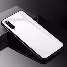 Silikon Schutzhülle Rahmen Tasche Hülle Spiegel für Xiaomi Mi 9 Lite Weiß