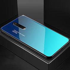 Silikon Schutzhülle Rahmen Tasche Hülle Spiegel für Xiaomi Mi 9T Blau