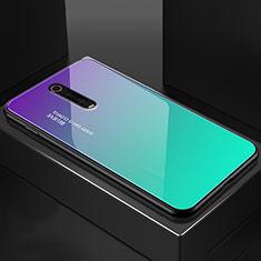 Silikon Schutzhülle Rahmen Tasche Hülle Spiegel für Xiaomi Mi 9T Pro Cyan