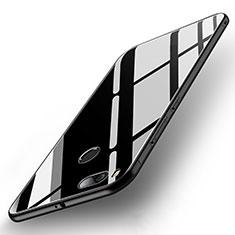 Silikon Schutzhülle Rahmen Tasche Hülle Spiegel für Xiaomi Mi A1 Schwarz