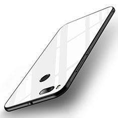 Silikon Schutzhülle Rahmen Tasche Hülle Spiegel für Xiaomi Mi A1 Weiß