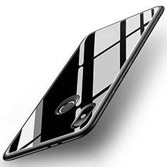 Silikon Schutzhülle Rahmen Tasche Hülle Spiegel für Xiaomi Mi A2 Schwarz