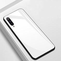 Silikon Schutzhülle Rahmen Tasche Hülle Spiegel für Xiaomi Mi A3 Weiß