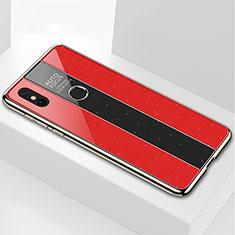 Silikon Schutzhülle Rahmen Tasche Hülle Spiegel für Xiaomi Mi Max 3 Rot