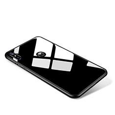 Silikon Schutzhülle Rahmen Tasche Hülle Spiegel für Xiaomi Mi Mix 2S Schwarz
