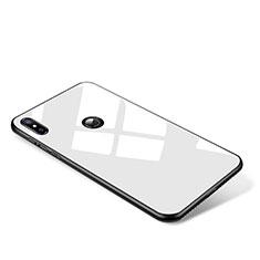 Silikon Schutzhülle Rahmen Tasche Hülle Spiegel für Xiaomi Mi Mix 2S Weiß
