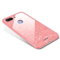 Silikon Schutzhülle Rahmen Tasche Hülle Spiegel für Xiaomi Redmi 6 Rosegold