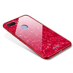 Silikon Schutzhülle Rahmen Tasche Hülle Spiegel für Xiaomi Redmi 6 Rot
