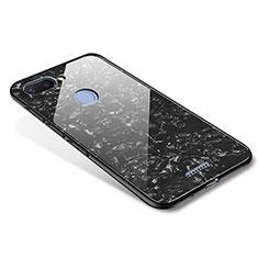 Silikon Schutzhülle Rahmen Tasche Hülle Spiegel für Xiaomi Redmi 6 Schwarz