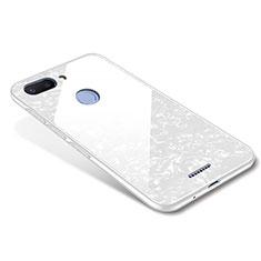 Silikon Schutzhülle Rahmen Tasche Hülle Spiegel für Xiaomi Redmi 6 Weiß