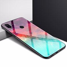 Silikon Schutzhülle Rahmen Tasche Hülle Spiegel für Xiaomi Redmi 7 Cyan