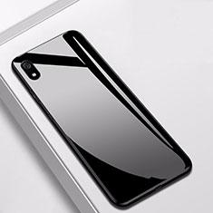 Silikon Schutzhülle Rahmen Tasche Hülle Spiegel für Xiaomi Redmi 7A Schwarz