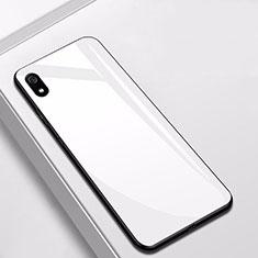 Silikon Schutzhülle Rahmen Tasche Hülle Spiegel für Xiaomi Redmi 7A Weiß