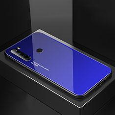 Silikon Schutzhülle Rahmen Tasche Hülle Spiegel für Xiaomi Redmi Note 8T Blau