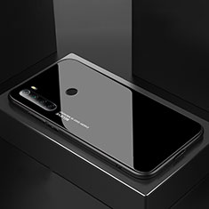 Silikon Schutzhülle Rahmen Tasche Hülle Spiegel für Xiaomi Redmi Note 8T Schwarz