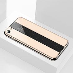 Silikon Schutzhülle Rahmen Tasche Hülle Spiegel M01 für Apple iPhone 6S Gold
