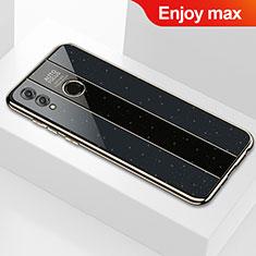 Silikon Schutzhülle Rahmen Tasche Hülle Spiegel M01 für Huawei Enjoy Max Schwarz