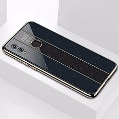 Silikon Schutzhülle Rahmen Tasche Hülle Spiegel M01 für Huawei Honor 10 Lite Schwarz