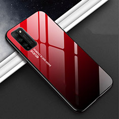 Silikon Schutzhülle Rahmen Tasche Hülle Spiegel M01 für Huawei Honor 30 Lite 5G Rot