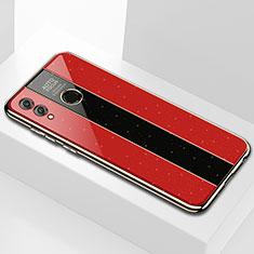 Silikon Schutzhülle Rahmen Tasche Hülle Spiegel M01 für Huawei Honor 8X Max Rot