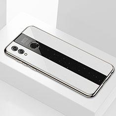 Silikon Schutzhülle Rahmen Tasche Hülle Spiegel M01 für Huawei Honor 8X Max Weiß