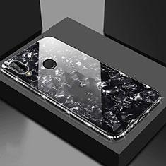 Silikon Schutzhülle Rahmen Tasche Hülle Spiegel M01 für Huawei Honor 8X Schwarz