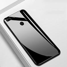 Silikon Schutzhülle Rahmen Tasche Hülle Spiegel M01 für Huawei Honor 9 Lite Schwarz