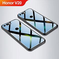 Silikon Schutzhülle Rahmen Tasche Hülle Spiegel M01 für Huawei Honor V20 Schwarz
