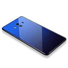 Silikon Schutzhülle Rahmen Tasche Hülle Spiegel M01 für Huawei Mate 10 Blau