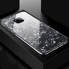Silikon Schutzhülle Rahmen Tasche Hülle Spiegel M01 für Huawei Mate 20 Pro Schwarz