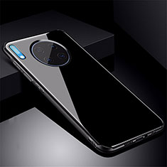 Silikon Schutzhülle Rahmen Tasche Hülle Spiegel M01 für Huawei Mate 30 Schwarz