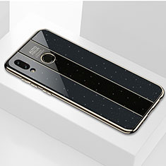 Silikon Schutzhülle Rahmen Tasche Hülle Spiegel M01 für Huawei P Smart (2019) Schwarz