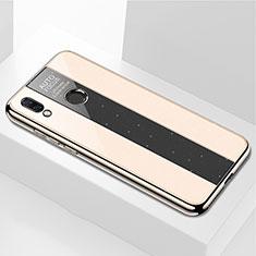 Silikon Schutzhülle Rahmen Tasche Hülle Spiegel M01 für Huawei P Smart+ Plus Gold
