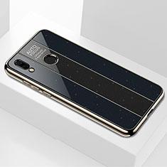 Silikon Schutzhülle Rahmen Tasche Hülle Spiegel M01 für Huawei P Smart+ Plus Schwarz