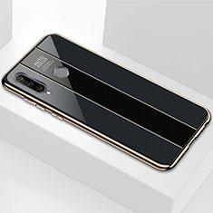 Silikon Schutzhülle Rahmen Tasche Hülle Spiegel M01 für Huawei P30 Lite Schwarz
