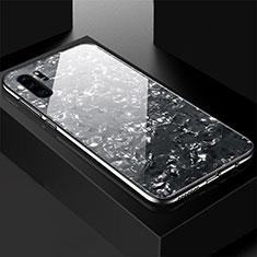 Silikon Schutzhülle Rahmen Tasche Hülle Spiegel M01 für Huawei P30 Pro Schwarz