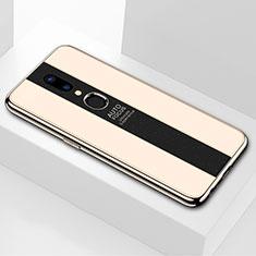 Silikon Schutzhülle Rahmen Tasche Hülle Spiegel M01 für Oppo A9 Gold