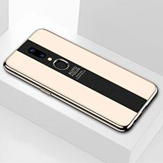 Silikon Schutzhülle Rahmen Tasche Hülle Spiegel M01 für Oppo A9X Gold