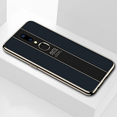 Silikon Schutzhülle Rahmen Tasche Hülle Spiegel M01 für Oppo A9X Schwarz