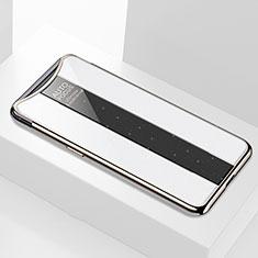 Silikon Schutzhülle Rahmen Tasche Hülle Spiegel M01 für Oppo Find X Super Flash Edition Weiß