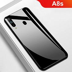 Silikon Schutzhülle Rahmen Tasche Hülle Spiegel M01 für Samsung Galaxy A8s SM-G8870 Schwarz