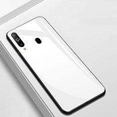 Silikon Schutzhülle Rahmen Tasche Hülle Spiegel M01 für Samsung Galaxy A8s SM-G8870 Weiß