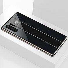 Silikon Schutzhülle Rahmen Tasche Hülle Spiegel M01 für Samsung Galaxy Note 10 Plus Schwarz