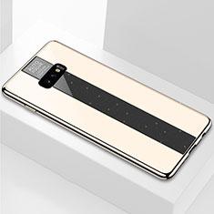 Silikon Schutzhülle Rahmen Tasche Hülle Spiegel M01 für Samsung Galaxy S10e Gold